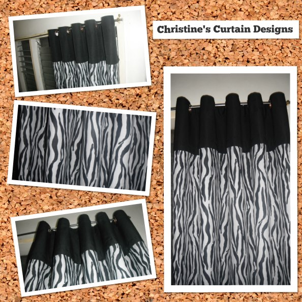 White Curtains black and white curtains for sale : Gray and White Safari Print Eyelet Curtain – Christine Writes